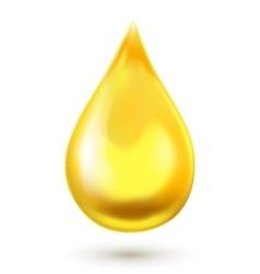 Realistic oil drop vector image