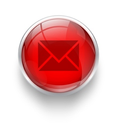 Red mail icon vector image
