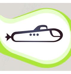 Submarine Retro-style emblem icon pictogram EPS 10 vector image