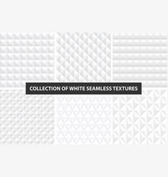beautiful decorative textures - white seamless vector image vector image