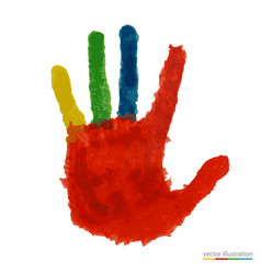 close up of colored hand vector image vector image