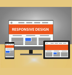 responsive design vector image vector image
