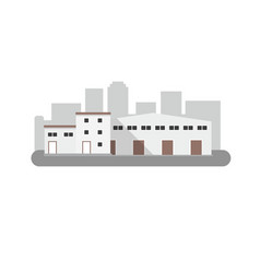 warehouse icon in flat style isolated vector image vector image