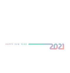 2021 colorful lines design vector image