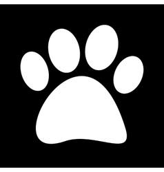 a white fingerprint vector image