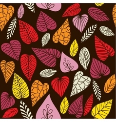 Abstract leaves pattern vector image
