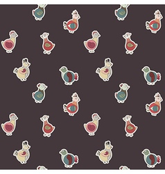abstract turkey bird chicken and pigeon vector image