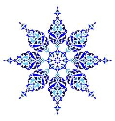 Antique ottoman turkish pattern design five vector