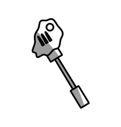 Beef roasted fork picnic shadow vector