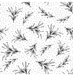 Black and white floral minimal simple seamless vector