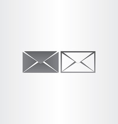Black envelope letter mail icons vector