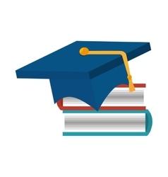 Book achivement hat graduation vector
