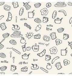 Breakfast pattern vector