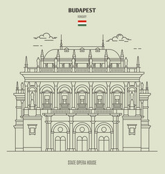 Building hungarian state opera house vector