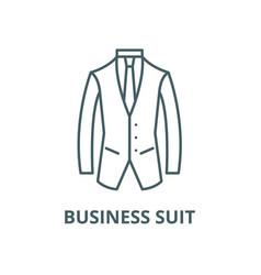 business suit line icon linear concept vector image