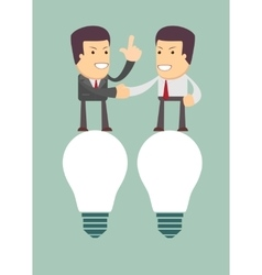 Businessmen handshaking after business meeting vector