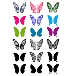 Butterfly wings set vector