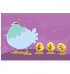 Cartoon chicken icons vector