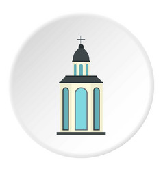 Church icon circle vector