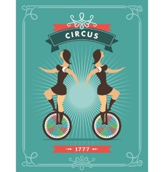 circus dancer poster vector image