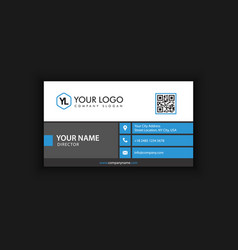 clean blue business card vector image