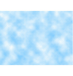 Cloud halftone background vector