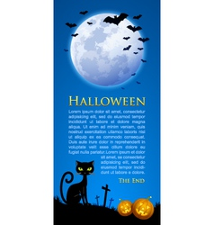 Creepy Halloween scene vector