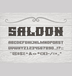 decorative vintage bold serif font on the vector image