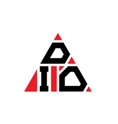 Dio triangle letter logo design with triangle vector