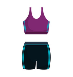 femenine sport wear clothes vector image