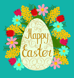 festive postcard to happy easter color vector image