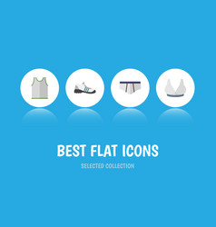 flat icon garment set of underclothes sneakers vector image