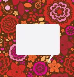 Floral ornamental post card vector