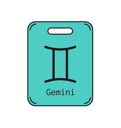 gemini sign of the zodiac flat symbol horoscope vector image