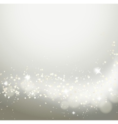 glittering stars flowing background vector image