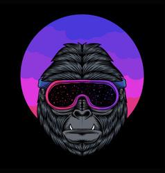 gorilla space vector image