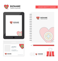 heart business logo tab app diary pvc employee vector image