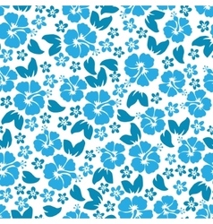 Hibiscus flowers seamless pattern Hawaiian Aloha vector image