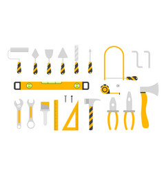 large set hand tool icons isolated on white vector image