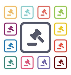 law flat icons set vector image