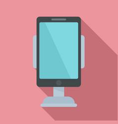 Modern car phone holder icon flat style vector