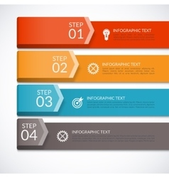 Modern infographics number options template vector image