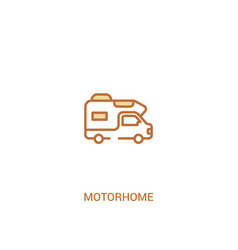 Motorhome concept 2 colored icon simple line vector