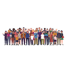 Multinational group people isolated vector