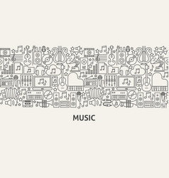 Music banner concept vector