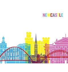Newcastle skyline pop vector image
