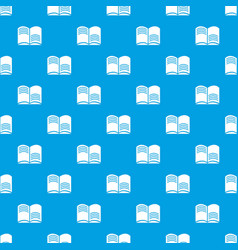 old open magic book pattern seamless blue vector image