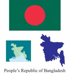 peoples republic of bangladesh flag vector image