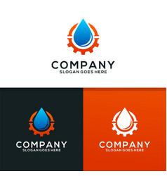 plumbing service logo design vector image