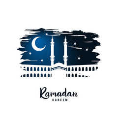 ramadan kareem silhouette of a mosque on a sacred vector image